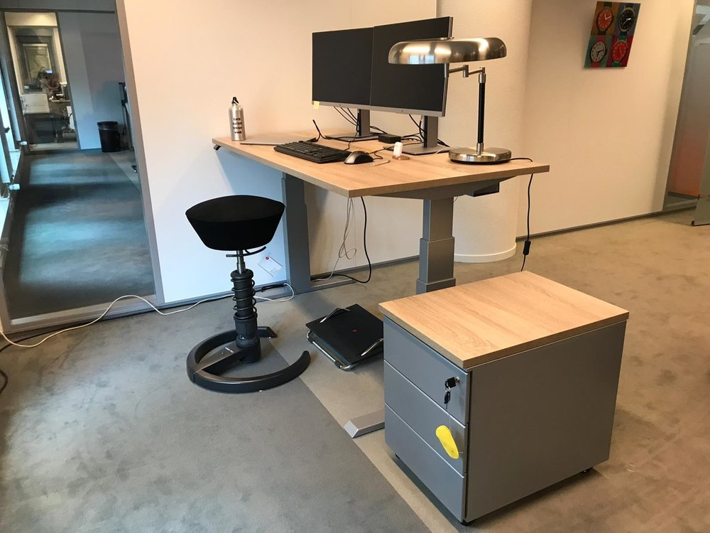 Dubbel Elektrisch Zit-Sta Bureau - SteelForce270