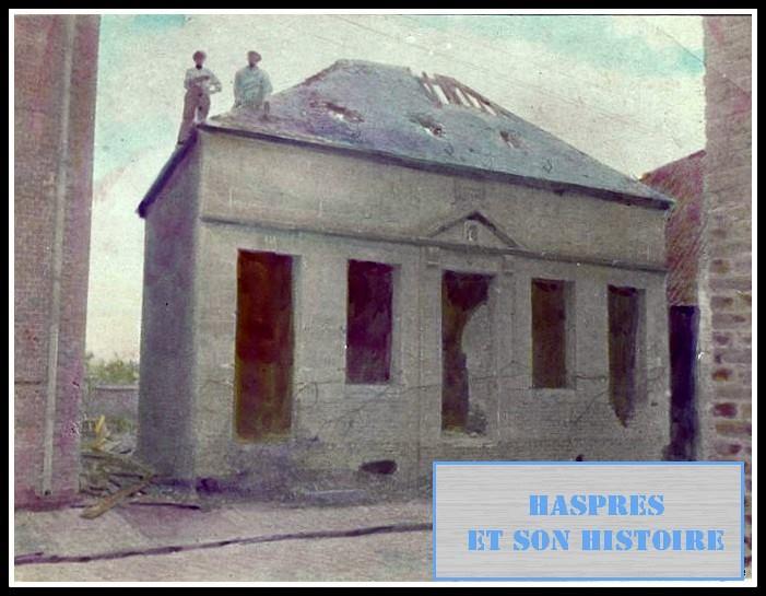 Destruction de l'ancienne mairie