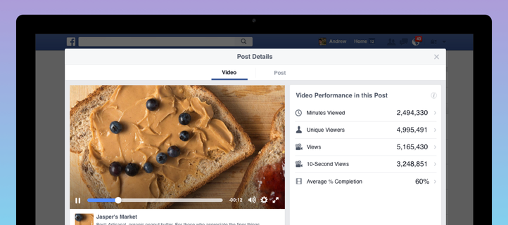 Metrik Facebook Video Ads