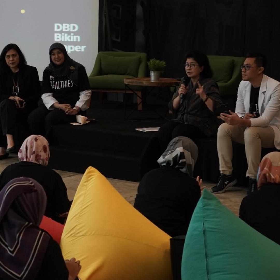 Meet Up Healthies Cegah DBD Bikin Baper Bersama Ibu Menteri Kesehatan Nila F Moeloek