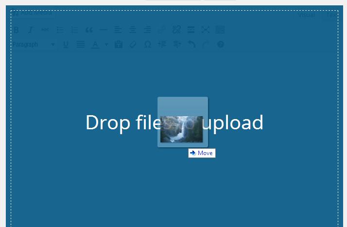 Kéo thả để upload - WordPress 3.9 Beta 1