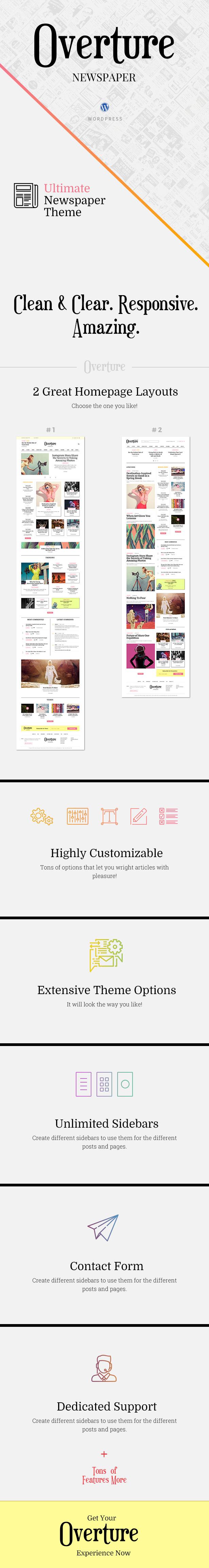 Overture - WordPress Magazine News Theme - 1