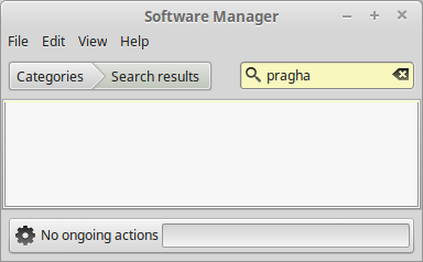Pragha not available through Software Manager