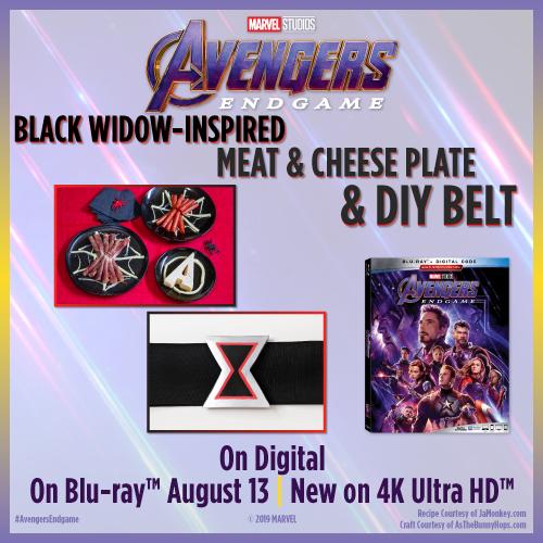 Black Widow- Inspired Meat & Cheese Plate + DIY Belt