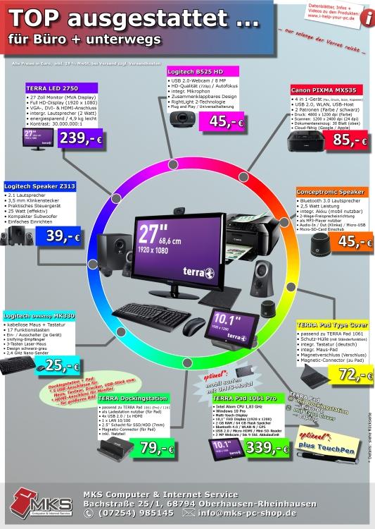 Kennen Sie schon den aktuellen Info-Flyer mit zahlreichen Produkten?