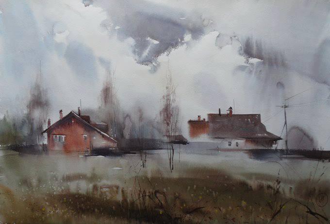 Russia,  Ilya Ibryaev acuarela