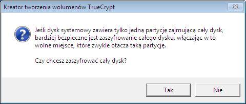 kreator tworzenia wolumenów TrueCrypt