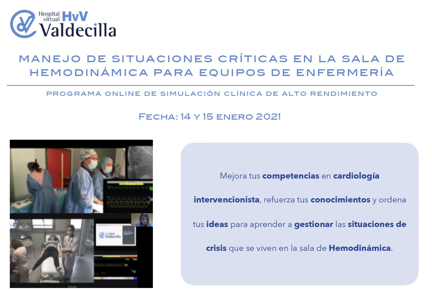Manejo de situaciones críticas en la sala de hemodinámica para equipos de enfermería