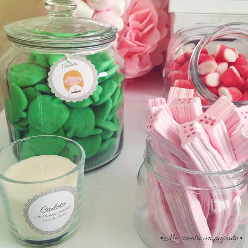 mesa dulce primera comunión etiquetas personalizadas