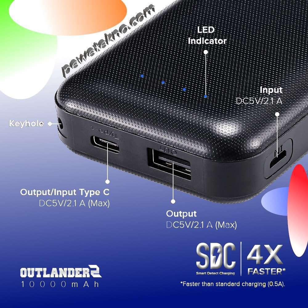 Powerbank Hippo Outlander2 Compact Yang Mungil dan Anti Slip