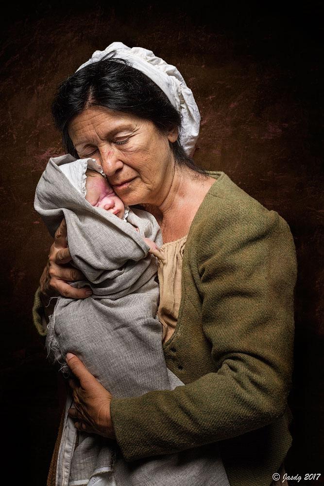 """19.- """"La matrona y el bebe"""" - Jasdg"""