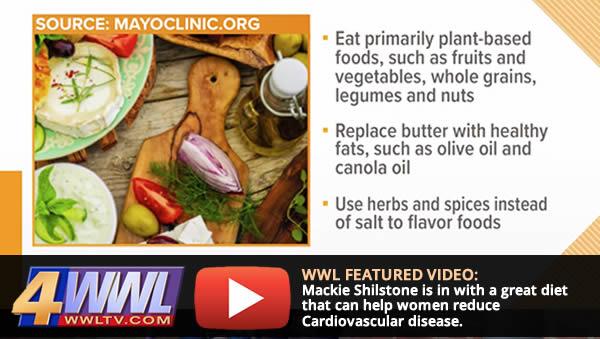Mackie reviews the Mediterranean diet on WWL-TV