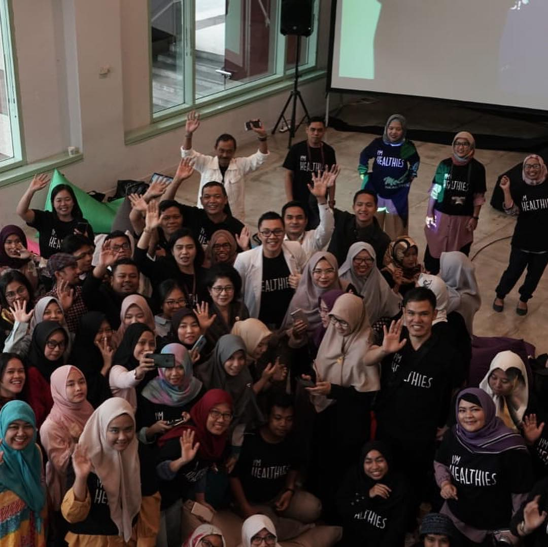 Meet Up Healthies Cegah DBD Bikin Baper - Bersama Teman-teman Blogger. Sumber: IG Kemenkes RI