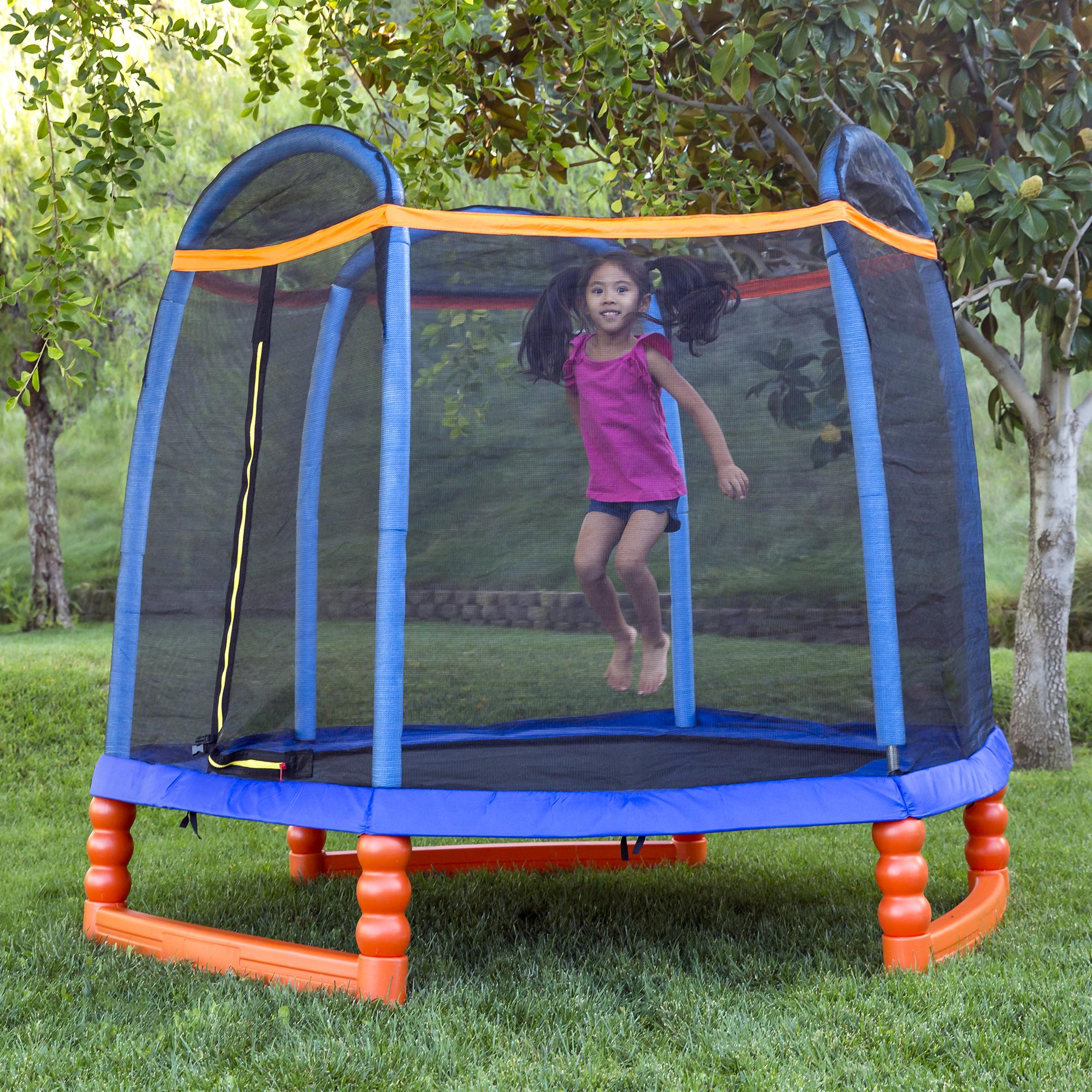 BCP 7ft Kids Indoor/Outdoor Mini Trampoline W/ Safety Net