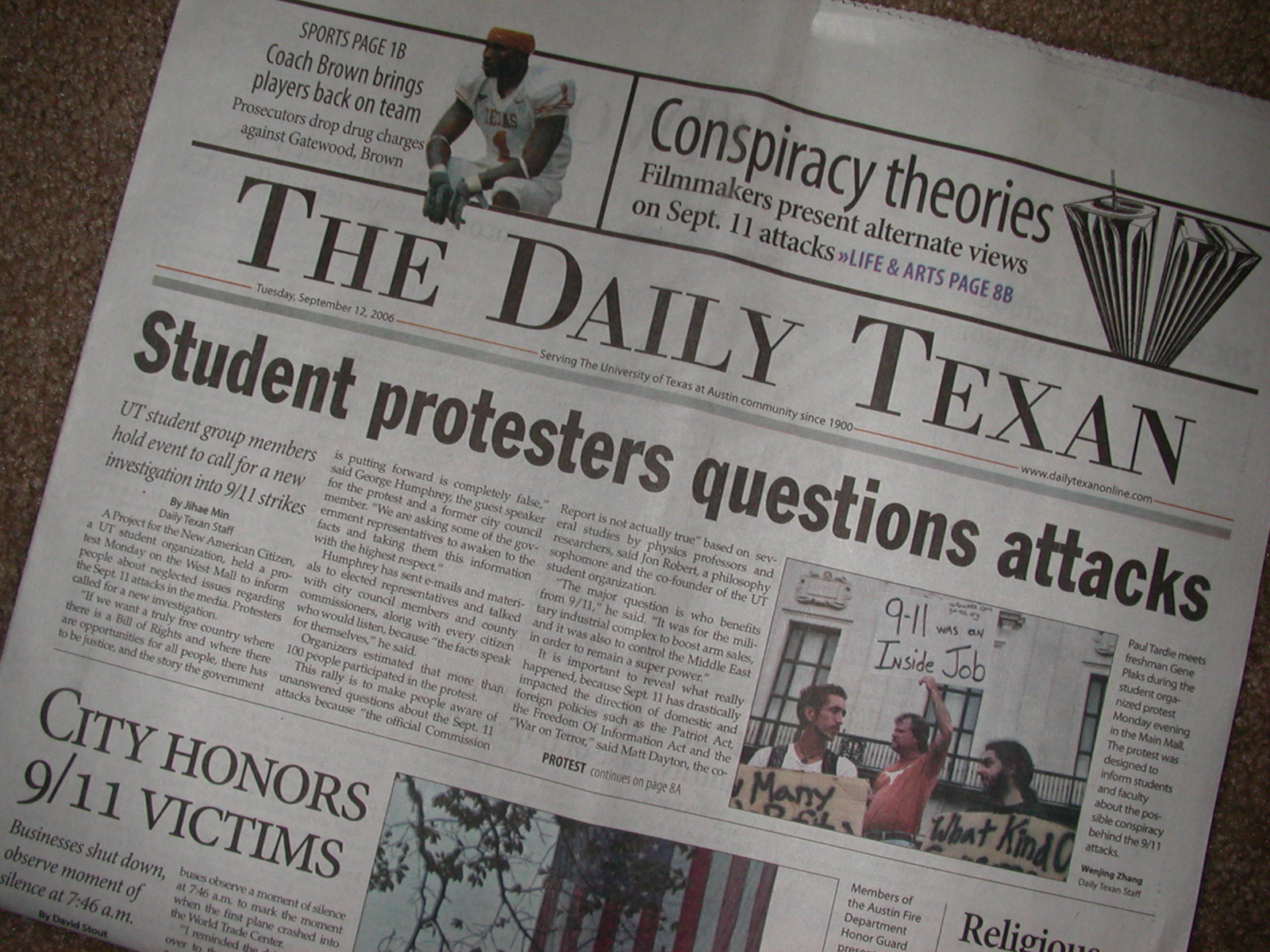 Image: The Daily Texan, grammatically challenged
