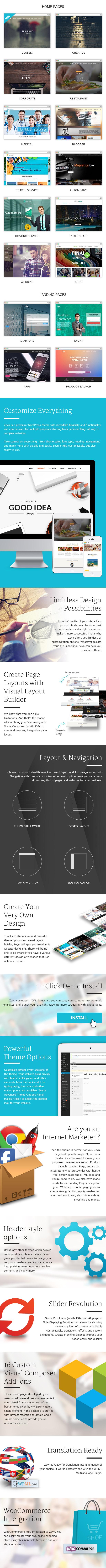Zeyn - Multipurpose WordPress Theme - 1