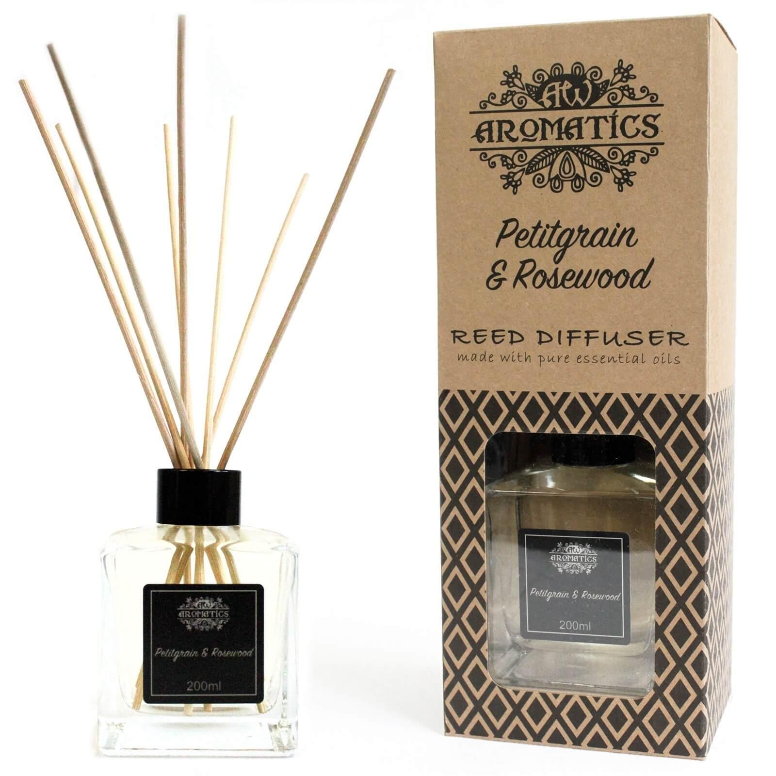 essential oil reed diffuser - petitgrain & rosewood
