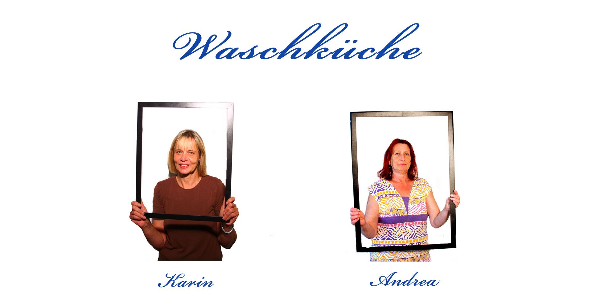 Mitarbeiter in der Waschküche