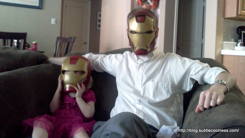 Daddy-daughter day at the Iron home