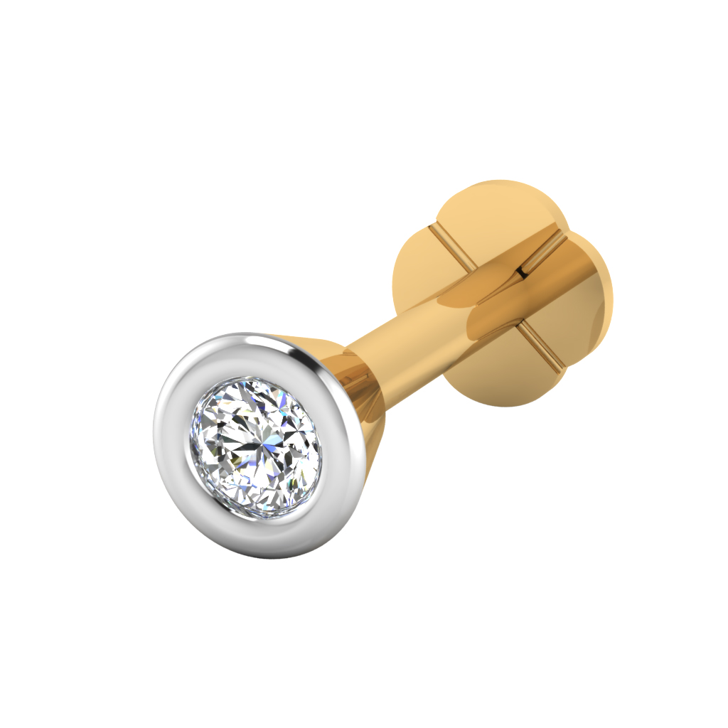 The Idoltary Diamond Solitaire Nose Screw