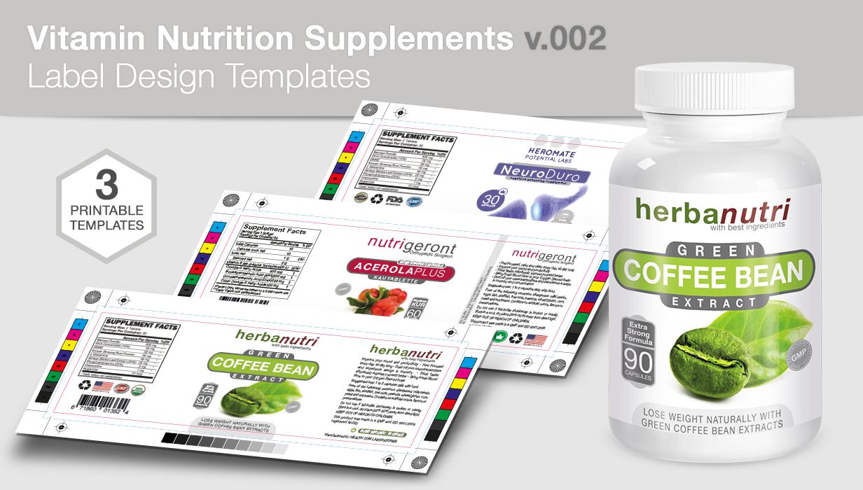 Bottle Nutrition Supplement Packaging Mock-Up - 3