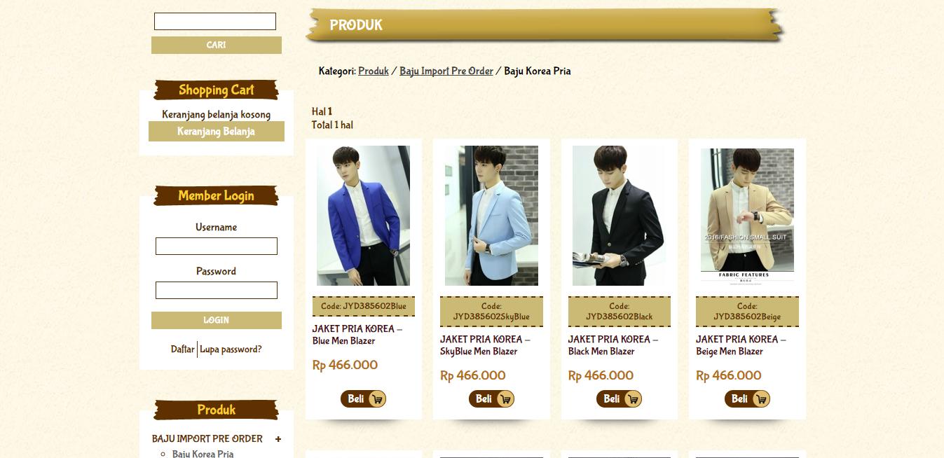 online shop baju korea
