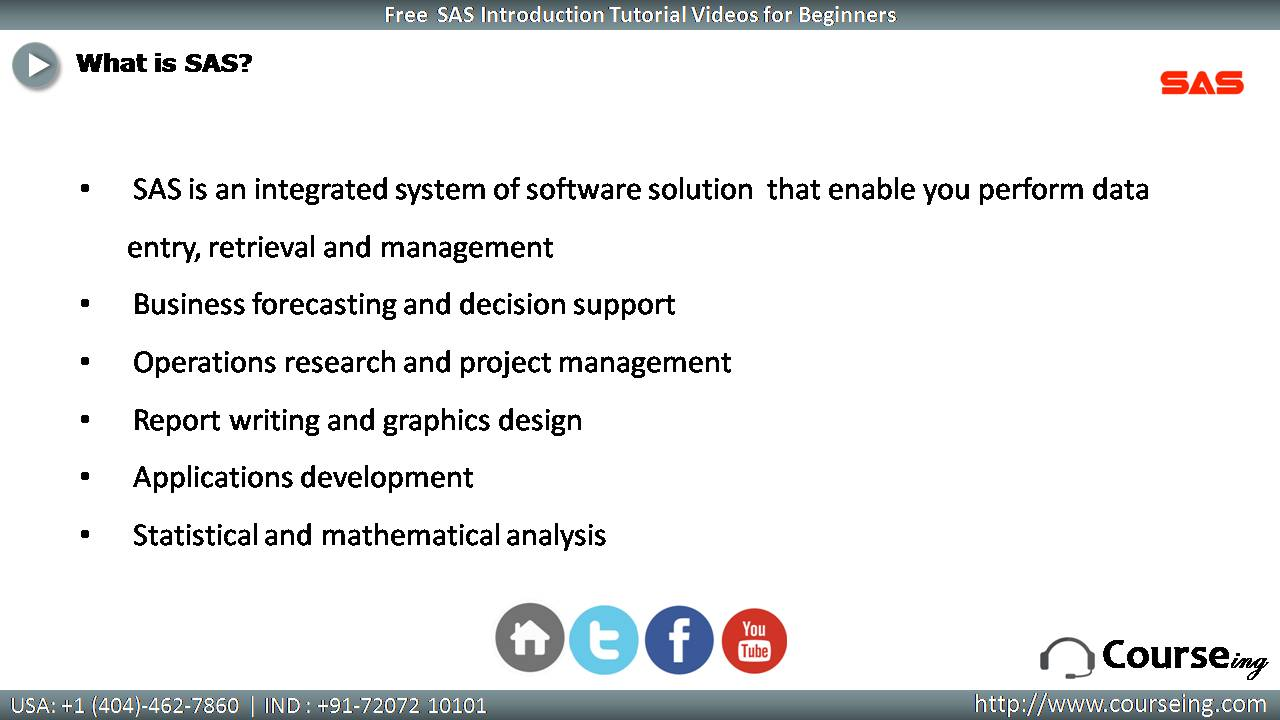 What is SAS.
