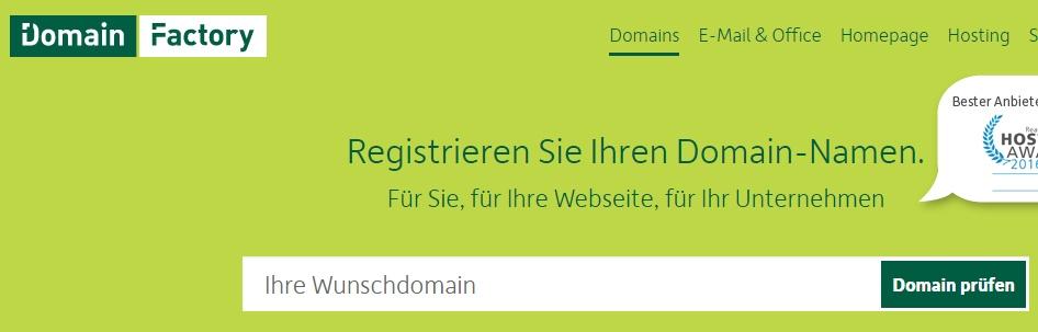 Bei zahlreichen Anbietern kann man eine neue Domain für wenig Geld einrichten.