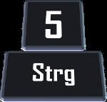 Durch Drücken der Steuerung-Taste zusammen mit der Zahl 1 bis 8 kann man zwischen den ersten acht Tabs wechseln.
