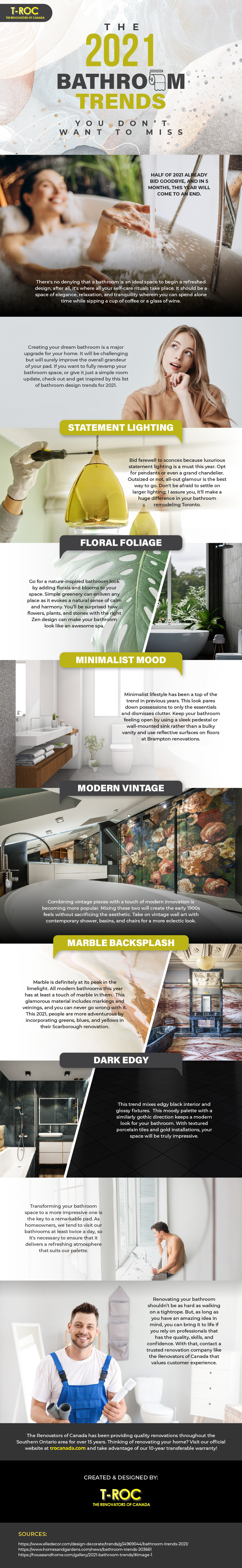 The 2021 Bathroom Trends You Don't Want To Miss [Infographic]