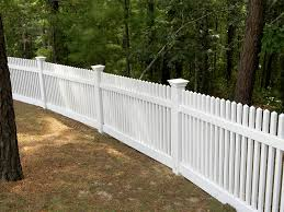 Straight Picket vinyl rail fence arizona Image