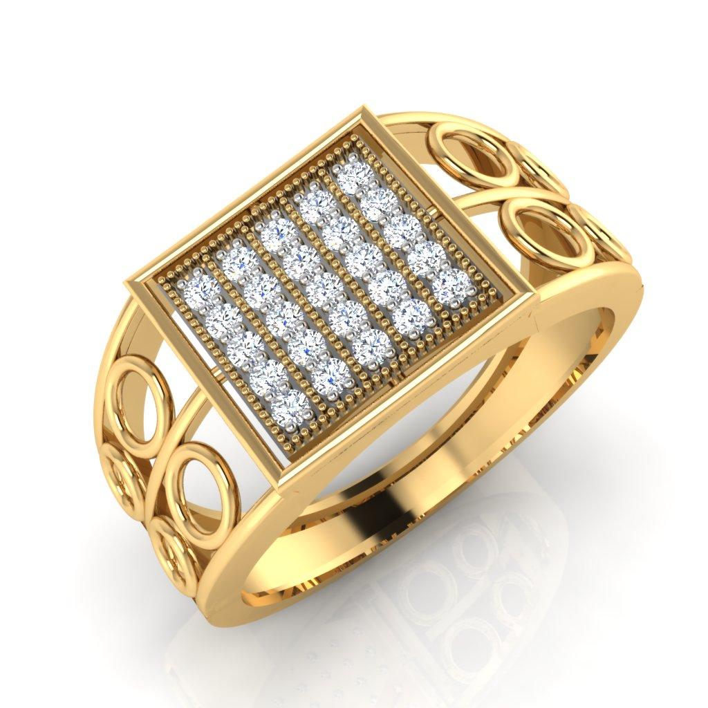 The Surjeet Diamond Mens Ring