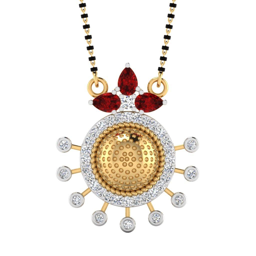 The Aadrika South Indian Diamond Mangalsutra
