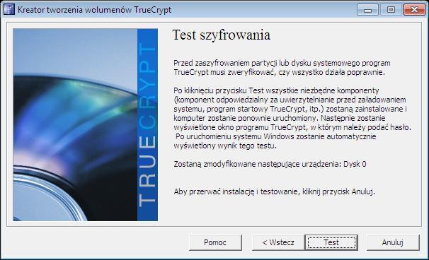 Test szyfrowania TC