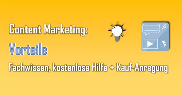 Mit Content Marketing kann man Präsenz zeigen, sein Wissen vermitteln und Hilfe leisten.