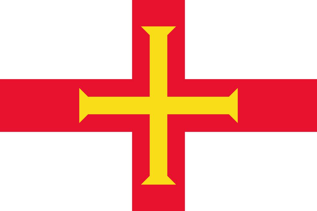 Bandera del baliazgo de Guernsey