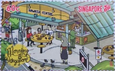 сингапур 2017 люди завтракают в кафе 60с