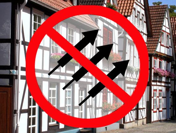 Keine Böller in der Nähe von Fachwerkhäusern Keine Böller in der Nähe von Fachwerkhäusern