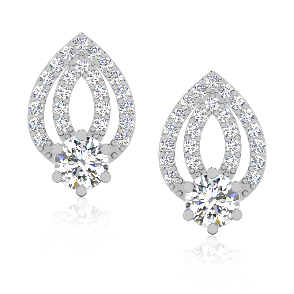 The Adorable Solitaire Stud Earrings