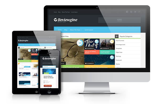 reviewgine - free wordpress theme