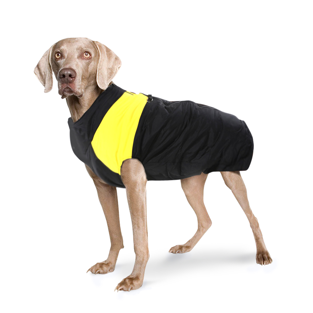 Dog Jacket Padded Waterproof Pet Clothes Warm Yellow Extra Extra Large