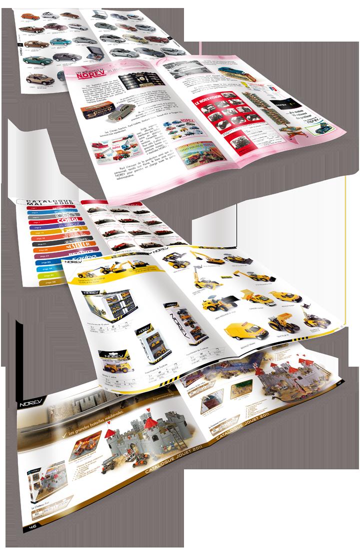 Différents styles de catalogues: Norev Collection, CEC miniatures toutes marques, Norev Jouet... Cliquez pour afficher en HD