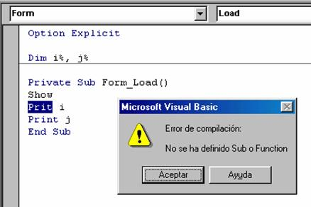 errores compilacion visual basic