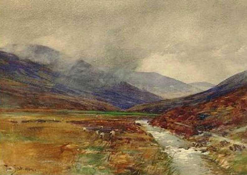 A border burn. Painter Tom Scott