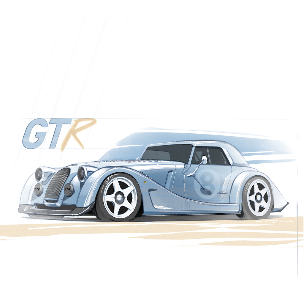 Morgan Motor Company unveils Plus 8 GTR special project