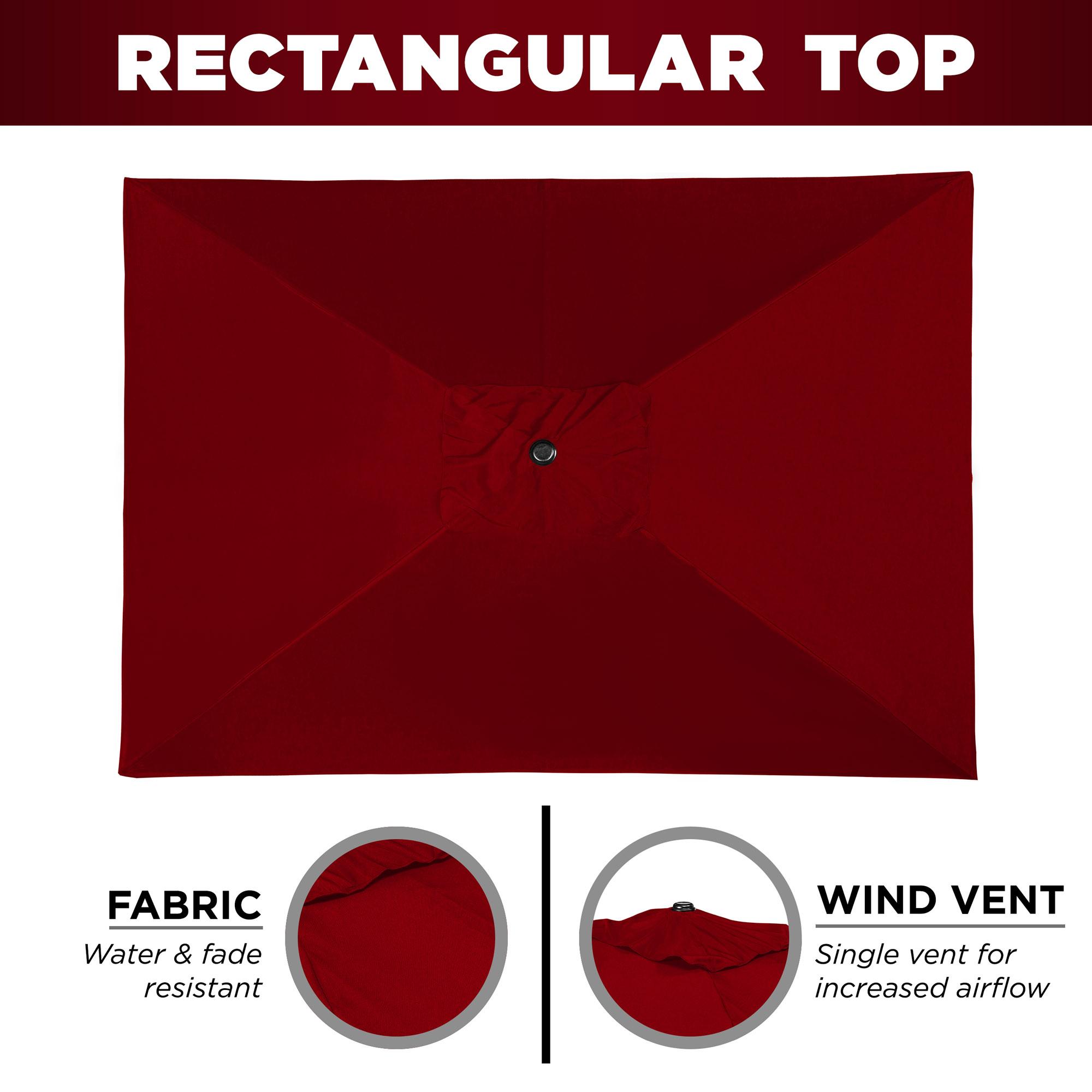 BCP-8x11ft-Rectangular-Patio-Umbrella-w-Easy-Crank-UV-Resistant-Fabric thumbnail 4
