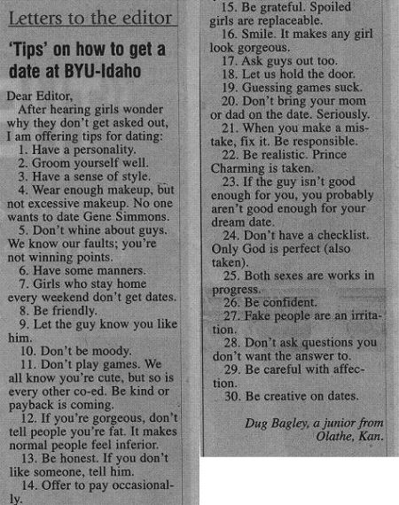 Image: Dating Tips