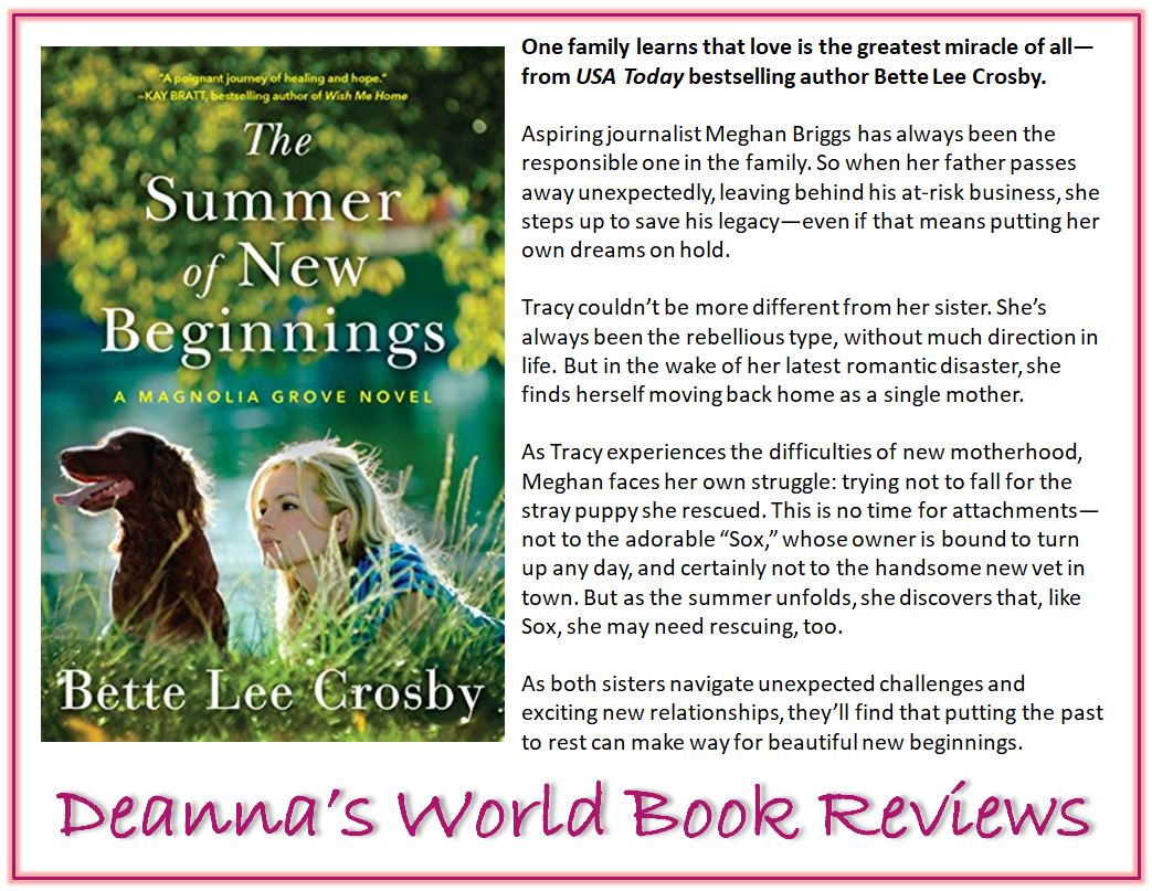 The Summer of New Beginnings by Bette Lee Crosby blurb