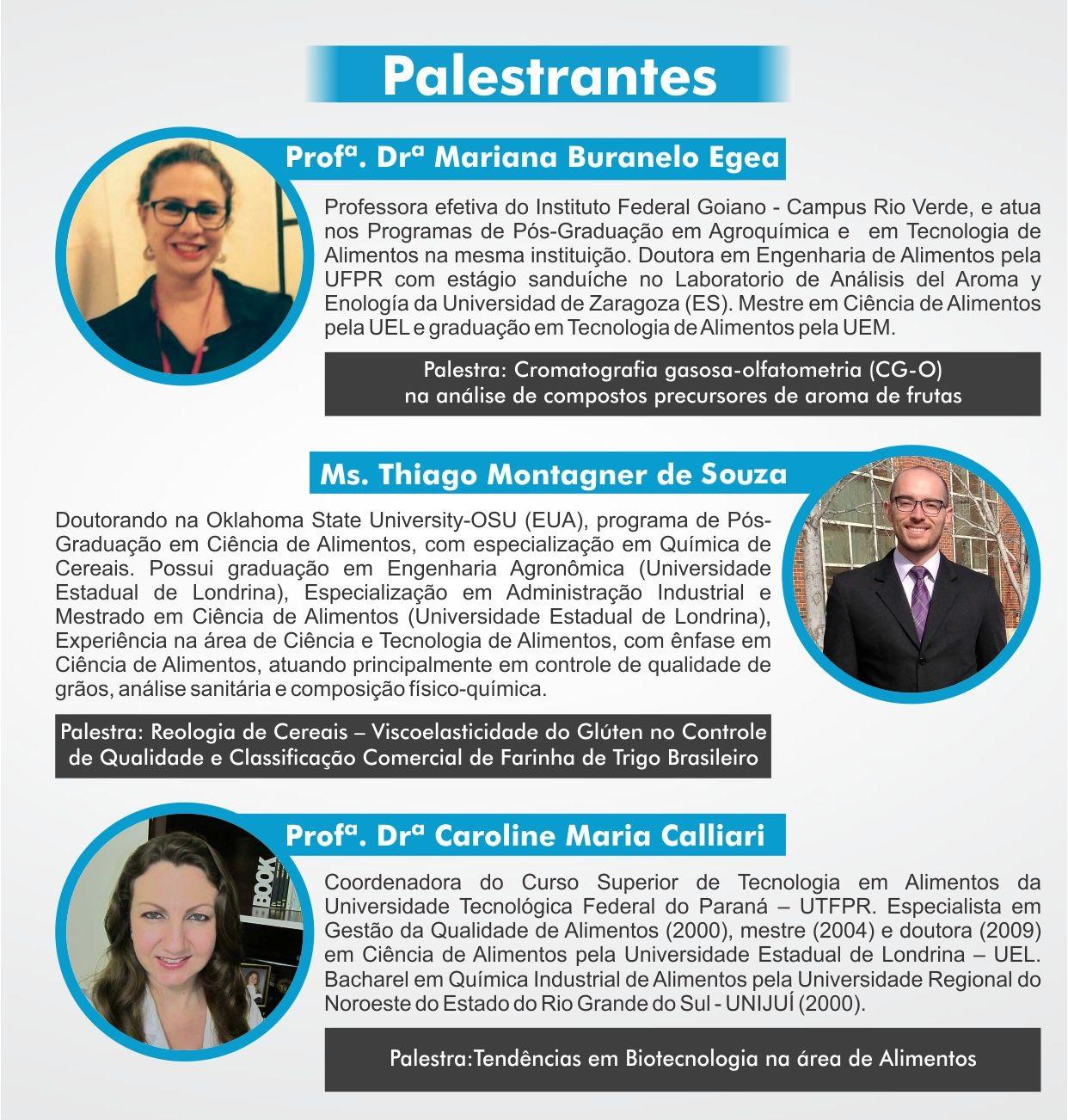 Palestrantes SECITA 2016
