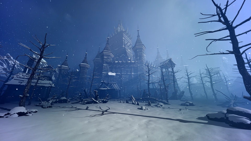 Fantasy Fortress And Landscape - 1